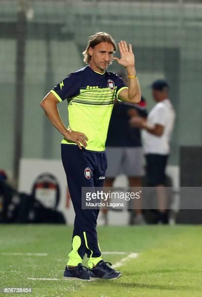 Head coach of Crotone Davide Nicola during the PreSeason Friendly match between FC Crotone and Cagliari Calcio at Stadio Comunale Ezio Scida on...