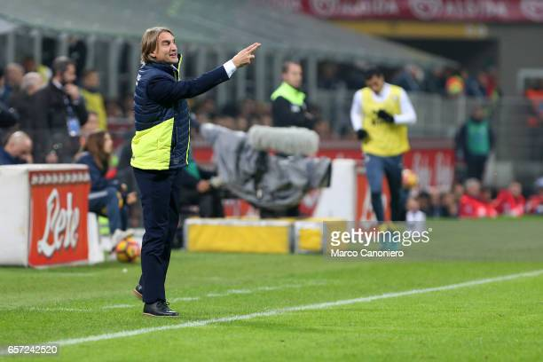 Head Coach of Crotone Davide Nicola during the Serie A match between FC Internazionale and FC Crotone Internazionale won 30 over Crotone