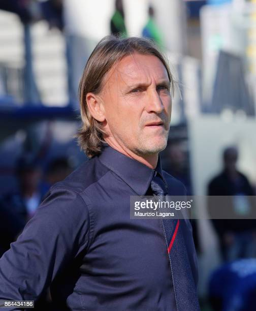 Head coach of Crotone Davide Nicola during the Serie A match between FC Crotone and Torino FC at Stadio Comunale Ezio Scida on October 15 2017 in...