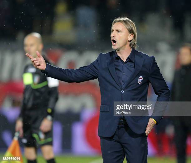 Head coach of Crotone Davide Nicola during the Serie A match between FC Crotone and Udinese Calcio at Stadio Comunale Ezio Scida on December 4 2017...