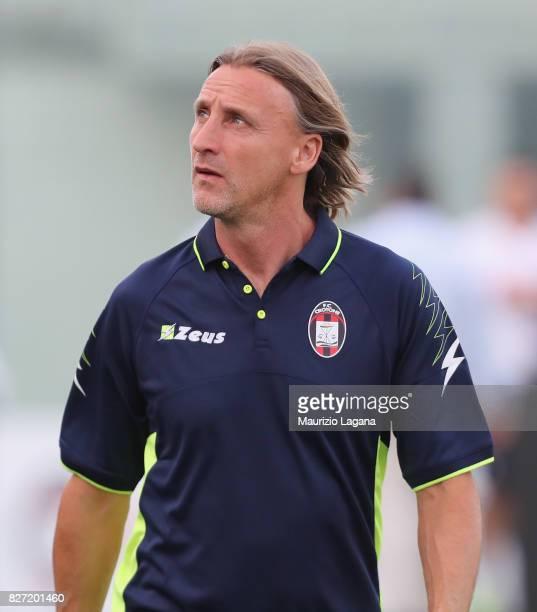 Head coach of Crotone Davide Nicola looks on during the PreSeason Friendly match between FC Crotone and Cagliari Calcio at Stadio Comunale Ezio Scida...