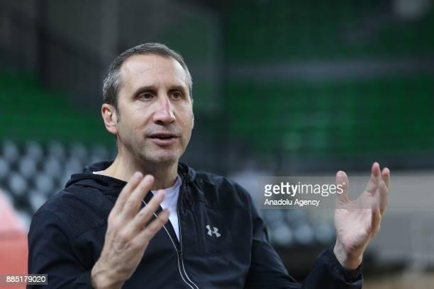 Head Coach of Darussafaka Dogus David Blatt speaks to media at Volkswagen Arena in Istanbul Turkey on December 04 2017