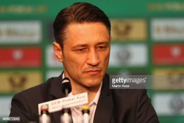Head coach of Eintracht Frankfurt Niko Kovac looks on during the DFB Cup Final 2017 press conference at Olympiastadion on May 26 2017 in Berlin...