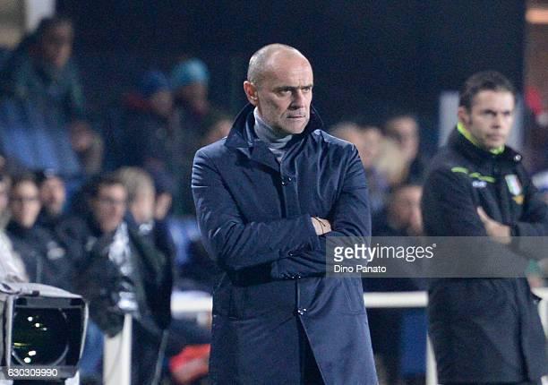 Head coach of Empoli Giovanni Martusciello looks on during the Serie A match between Atalanta BC and Empoli FC at Stadio Atleti Azzurri d'Italia on...