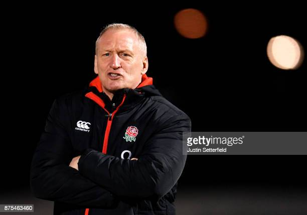Head coach of England Simon Middleton during the Old Mutual Wealth Series between England Women and Canada Women at Allianz Park on November 17 2017...