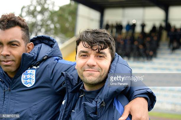 Head coach of England U15 Kewin Betsy looks on during the U15 International Tournament match between Italy and England at Stadio Colussi on April 24...