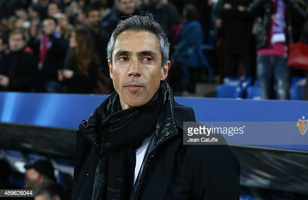 Head coach of FC Basel Paulo Sousa looks on during the UEFA Champions League Group B match between FC Basel 1893 and Real Madrid CF at St JakobPark...