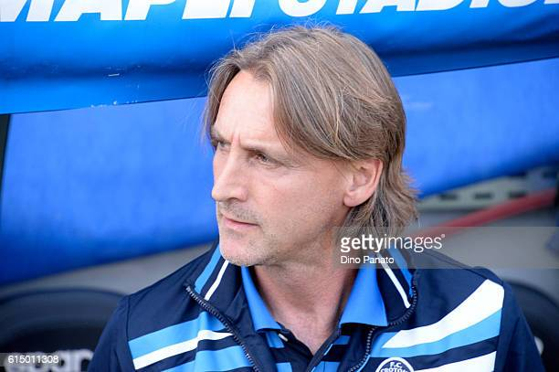 Head coach of FC Crotone Davide Nicola looks on during the Serie A match between US Sassuolo and FC Crotone at Mapei Stadium Citta' del Tricolore on...