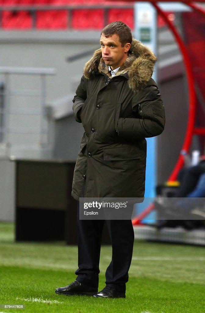 Head coach of FC CSKA Moscow Viktor Goncharenko during the Russian Premier League match between FC Rubin Kazan and PFC CSKA Moscow at Kazan Arena stadium on November 26, 2017 in Kazan, Russia.