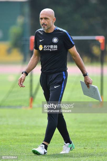 Head coach of FC Inter Milan Luciano Spalletti during a training session of International Champions Cup training session at National Stadium on July...