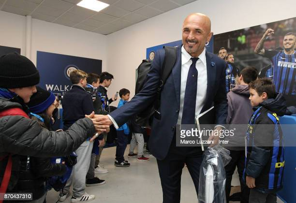 Head coach of FC Internazionale Luciano Spalletti arrives prior to the Serie A match between FC Internazionale and Torino FC at Stadio Giuseppe...