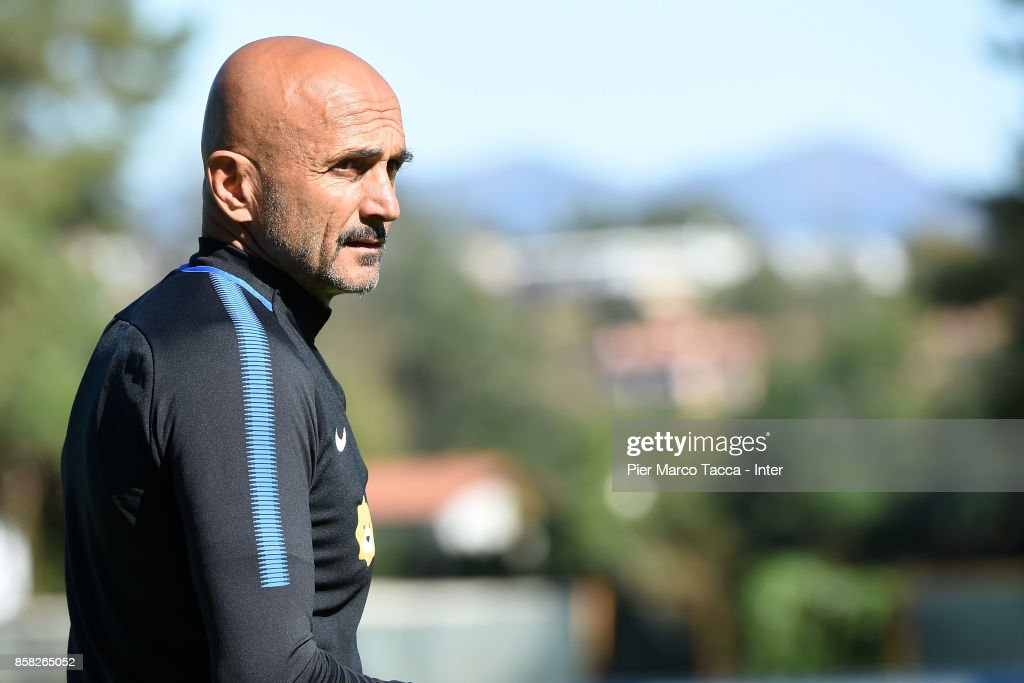 Head Coach of FC Internazionale Luciano Spalletti looks during a FC Internazionale Training Session at Appiano Gentile on October 6, 2017 in Como, Italy.