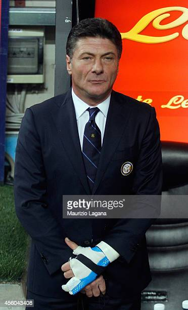 Head coach of FC Internazionale Walter Mazzarri during the Serie A match between FC Internazionale Milano and Atalanta BC at Stadio Giuseppe Meazza...