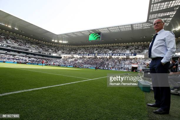 Head coach of FC Nantes Claudio Ranieri looks on before the Ligue 1 match between FC Girondins de Bordeaux and FC Nantes at Stade Matmut Atlantique...