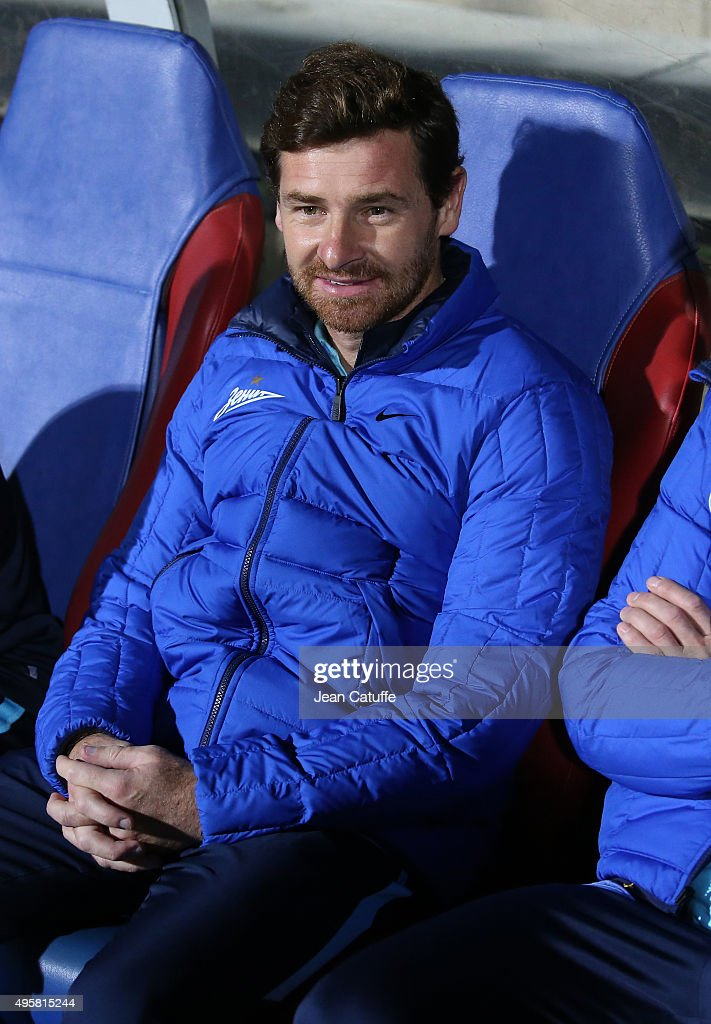 Head coach of FC Zenit Andre Villas-Boas looks on during the UEFA Champions league match between Olympique Lyonnais (OL) and FC Zenit St Petersburg at Stade de Gerland on November 4, 2015 in Lyon, France.