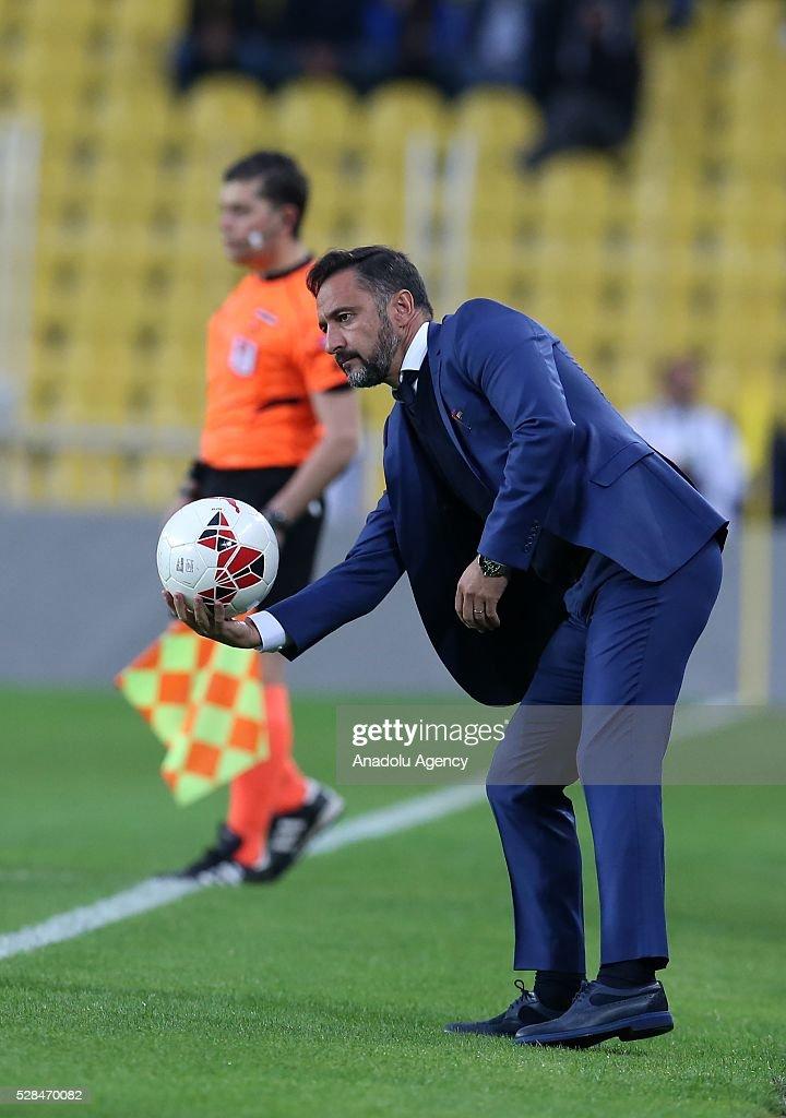 Head coach of Fenerbahce Vitor Pereira is seen during the during Ziraat Turkish Cup Semi Final second leg football match between Fenerbahce and Torku Konyaspor at Ulker Stadium in Istanbul, Turkey on May 5, 2016.