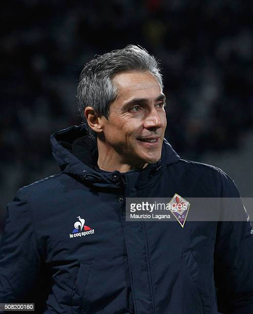 Head coach of Fiorentina Paulo Sousa during the Serie A match between ACF Fiorentina and Carpi FC at Stadio Artemio Franchi on February 3 2016 in...