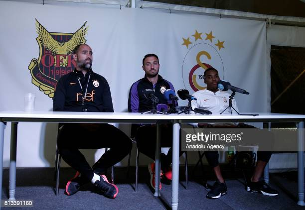 Head coach of Galatasaray Igor Tudor and Garry Rodrigues hold a press conference ahead of the UEFA Europa League second qualifying round match...