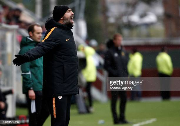 Head Coach of Galatasaray Igor Tudor gestures during the UEFA Europa League 2nd Qualifying Round soccer match between Galatasaray and Ostersund FK at...