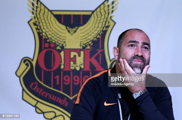 Head coach of Galatasaray Igor Tudor holds a press conference ahead of the UEFA Europa League second qualifying round match between Ostersunds and...