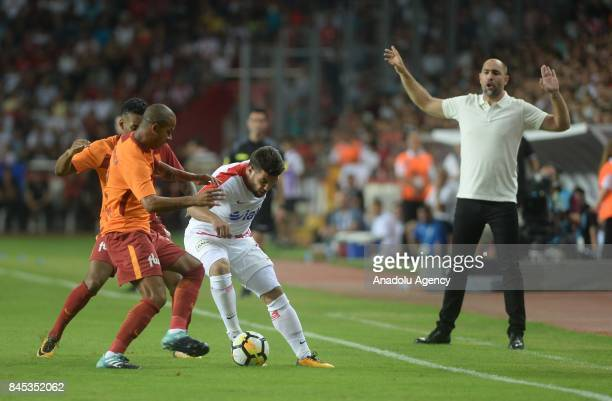 Head coach of Galatasaray Igor Tudor reacts during the 4th week of the Turkish Super Lig match between Antalyaspor and Galatasaray at the Antalya...