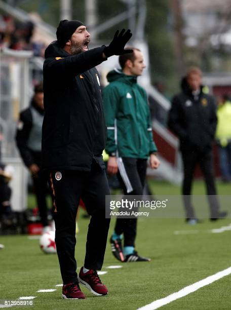 Head Coach of Galatasaray Igor Tudor watches the match during the UEFA Europa League 2nd Qualifying Round soccer match between Galatasaray and...