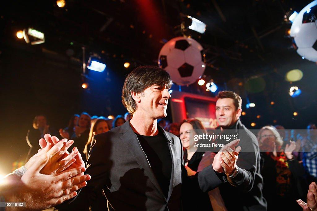 Head coach of German national football team Joachim Loew attends the 2014! Menschen, Bilder, Emotionen - RTL Jahresrueckblick show on December 7, 2014 in Cologne, Germany.