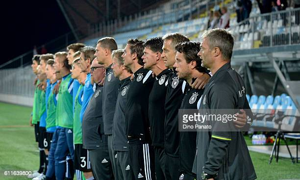 Head coach of Germany U17 Christian Wueck looks on during the UEFA Development Tournamnent between Croatia U17 and Germany U17 at Stadium HNK Rijeka...