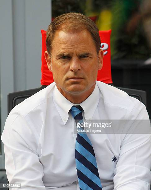Head coach of Inter Frank de Boer during the Serie A match between FC Internazionale and Bologna FC at Stadio Giuseppe Meazza on September 25 2016 in...