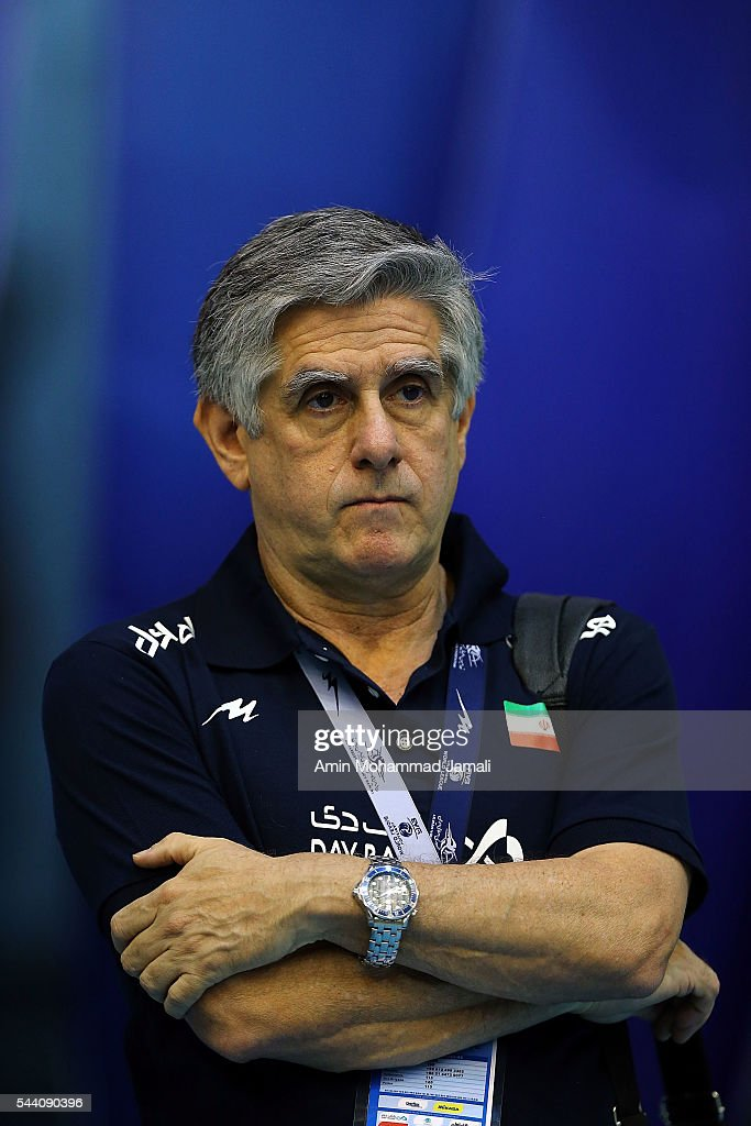 head coach of iran Lozano Raul Lucio looks on during the FIVB Volleyball World League 2016 - Iran match between Italy against Argentina on July 1, 2016 in Tehran, Iran.