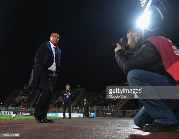 Head coach of Italy Gian Piero Ventura before the FIFA 2018 World Cup Qualifier between Albania and Italy at Loro Borici Stadium on October 9 2017 in...