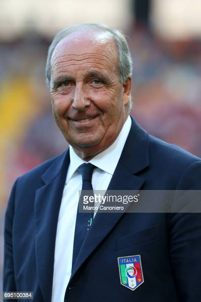 Head coach of Italy Gian Piero Ventura looks on before the FIFA 2018 World Cup Qualifier match between Italy and Liechtenstein Italy went on to win...