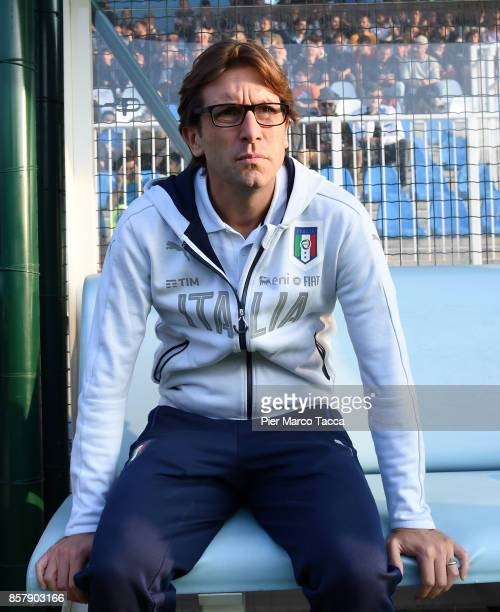 Head Coach of Italy U20 Federico Guidi looks during the 8 Nations Tournament match between Italy U20 and England U20 on October 5 2017 in Gorgonzola...