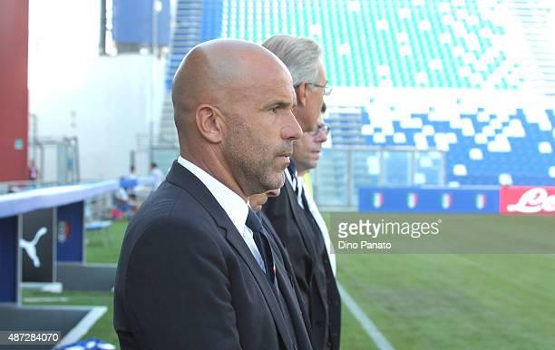 Head coach of Italy U21 Luigi Di Biagio during the 2017 UEFA European U21 Championships Qualifier between Italy U21 and Slovenia U21 at Mapei Stadium...