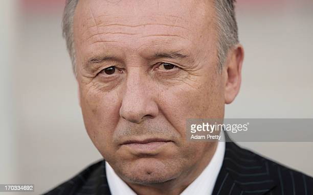 Head Coach of Japan Alberto Zaccheroni before the FIFA World Cup Asian qualifier match between Iraq and Japan at AlArabi Stadium on June 11 2013 in...