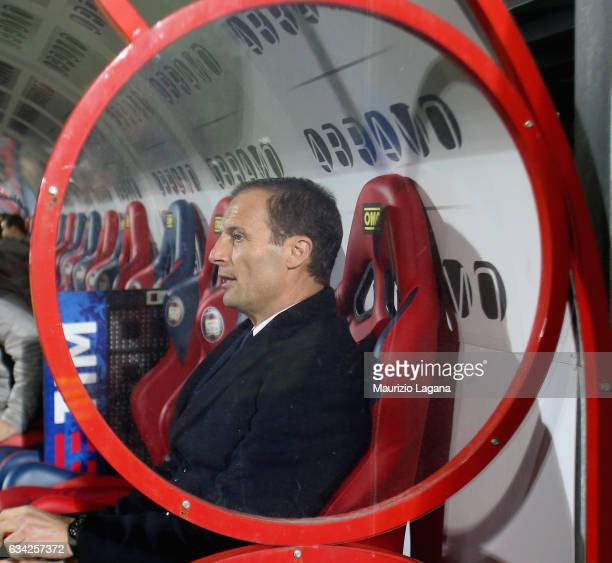 Head coach of Juvents Massimiliano Allegri during the Serie A match between FC Crotone and Juventus FC at Stadio Comunale Ezio Scida on February 8...