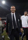 Head coach of Juventus Massimiliano Allegri during the Serie A match between SSC Napoli and Juventus FC at Stadio San Paolo on September 26 2015 in...
