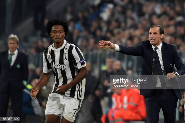 Head Coach of Juventus Massimiliano Allegri gestures during the UEFA Champions League group D match between Juventus and Sporting CP at Juventus...