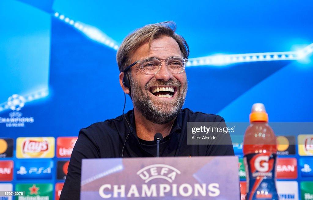 Sevilla FC & Liverpool FC Training And Press Conference