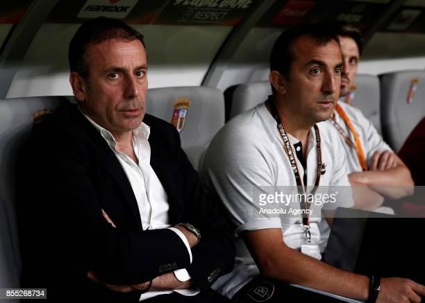 Head coach of Medipol Basaksehir Abdullah Avci looks on during the UEFA Europa League Group C match between Sporting Braga and Medipol Basaksehir at...