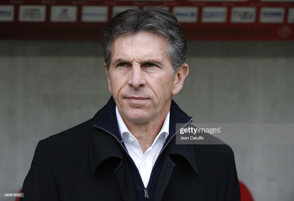 Head coach of Nice <a gi-track='captionPersonalityLinkClicked' href=/galleries/search?phrase=Claude+Puel&family=editorial&specificpeople=697176 ng-click='$event.stopPropagation()'>Claude Puel</a> reacts during the French Ligue 1 match between OGC Nice and AS Saint-Etienne, ASSE, at the Allianz Riviera stadium on December 14, 2014 in Nice, France.