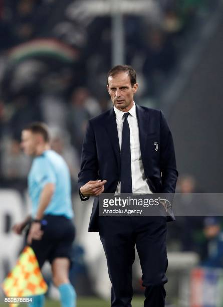 Head coach of of Juventus Massimiliano Allegri reacts during the UEFA Champions League group D football match between FC Juventus and Sporting CP at...