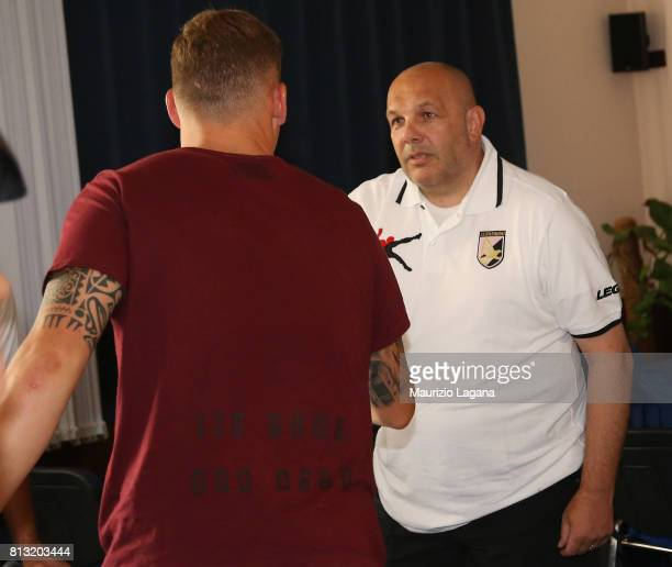 Head coach of Palermo Bruno Tadino salutes on July 12 2017 in Gradisca d'Isonzo Italy