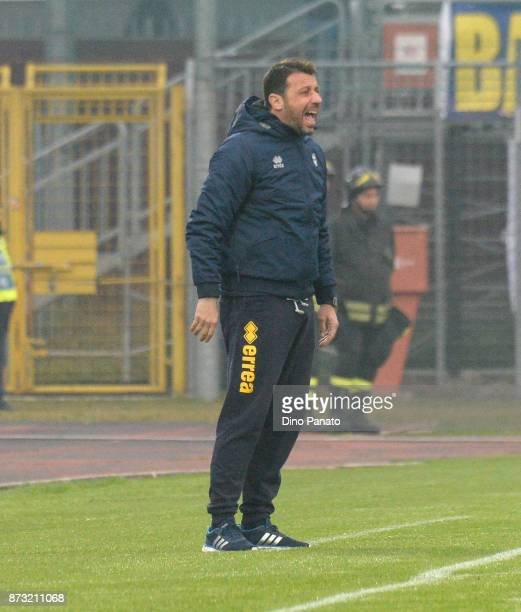 Head coach of Parma Calcio Roberto D'Aversa during the Serie B match between AS Cittadella and Parma Calcio on November 12 2017 in Cittadella Italy