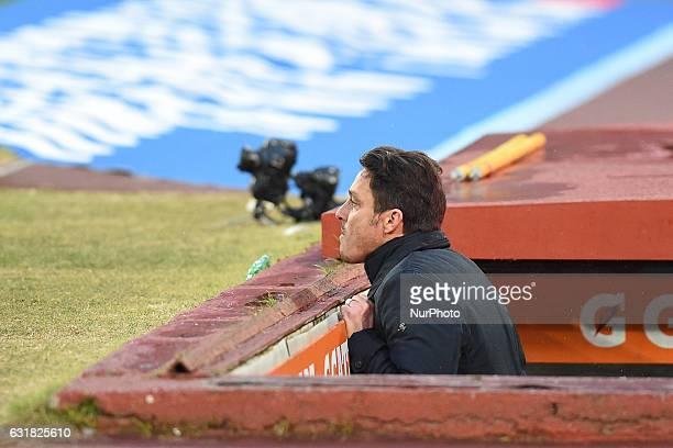 Head Coach of Pescara Calcio Massimo Oddo during the Serie A TIM match between SSC Napoli and Pescara Calcio at Stadio San Paolo Naples Italy on 15...