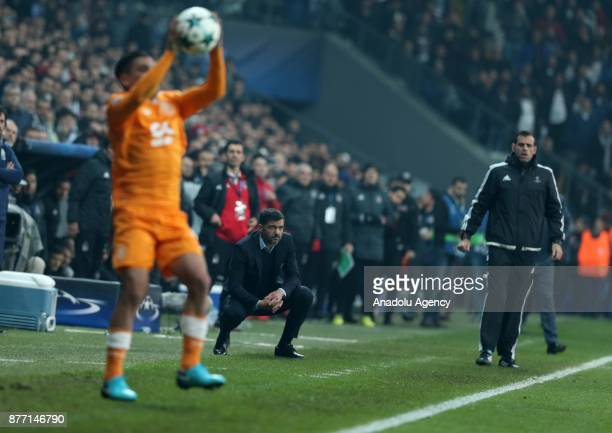 Head coach of Porto Sergio Conceicao watches the UEFA Champions League Group G soccer match between Besiktas and Porto at the Vodafone Park in...