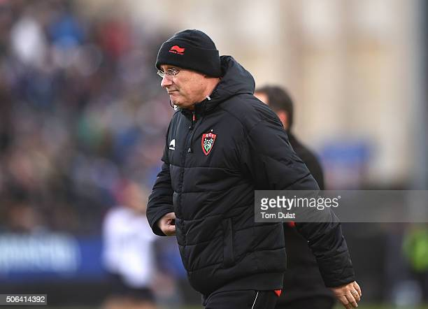 Head coach of RC Toulon Bernard Laporte looks on during the European Rugby Champions Cup match between Bath Rugby and RC Toulon at Recreation Ground...