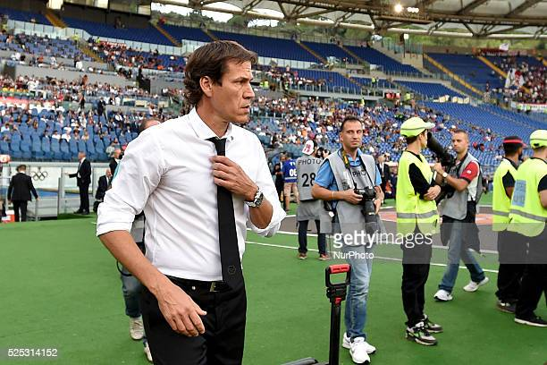 head coach of Roma Rudi Garcia during the Italian Serie A match between AS Roma and FC Carpi at Stadio Olimpico in Rome on September 26 2015