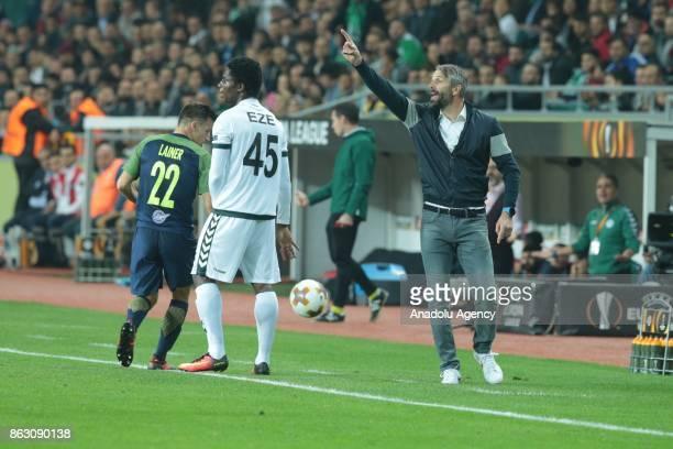Head Coach of Salzburg Marco Rose gestures during the UEFA Europa League Group I soccer match between Atiker Konyaspor and Red Bull Salzburg at Konya...