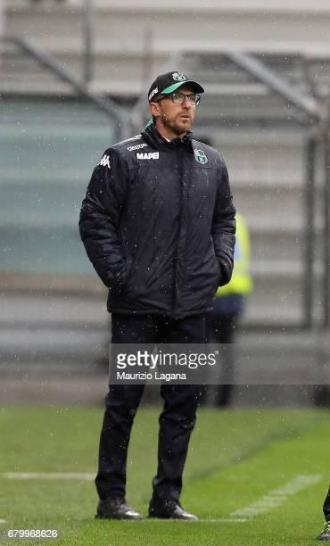 Head coach of Sassuolo Eusebio Di Francesco during the Serie A match between US Sassuolo and ACF Fiorentina at Mapei Stadium Citta' del Tricolore on...